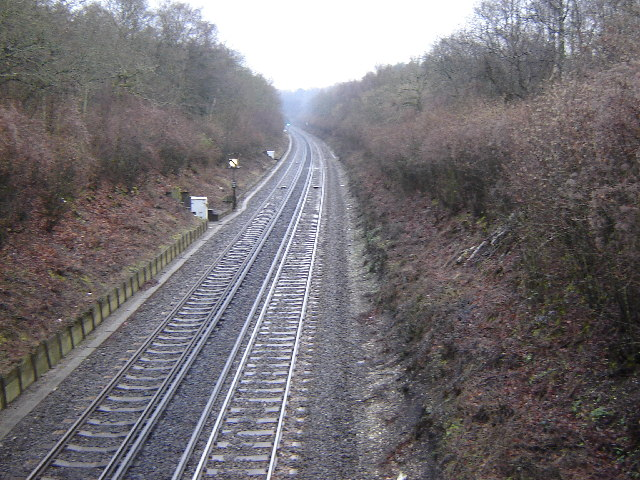 Railway line from Basingstoke to Winchester