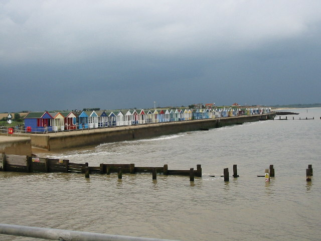 Beach huts from Pier
