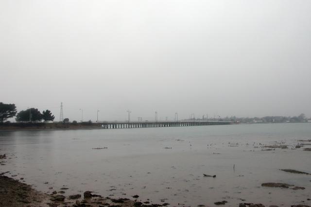 Langstone bridge, seen from Hayling Island