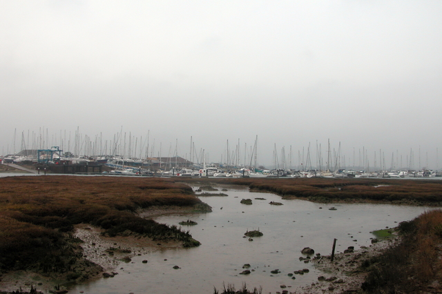Northney Marina, at the northern end of Hayling Island