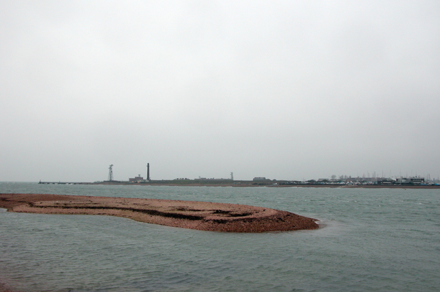 Looking across Langstone Channel towards Fort Cumberland
