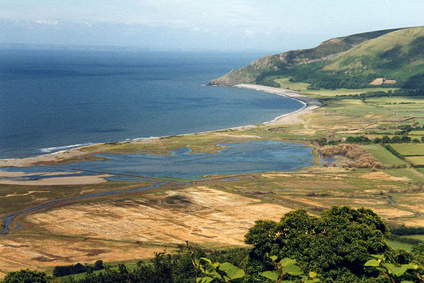 Porlock saltings at high tide, from the Toll Road
