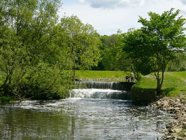 Weir on River Bollin above Vardon Bridge, Wilmslow