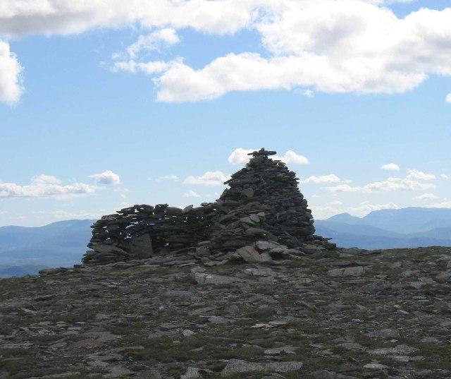 Summit cairn of A' Chailleach
