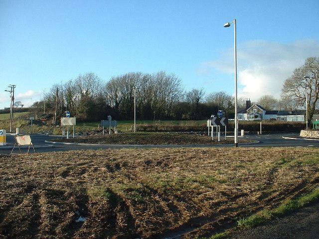 New Roundabout at Afon Wen
