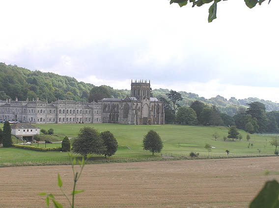 Milton Abbey from the west