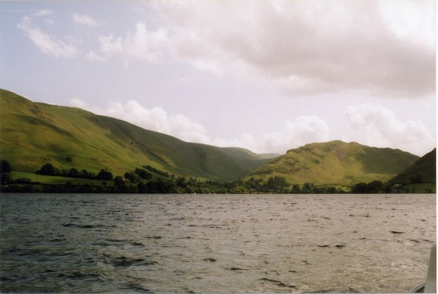 Looking towards Howtown from Ullswater.