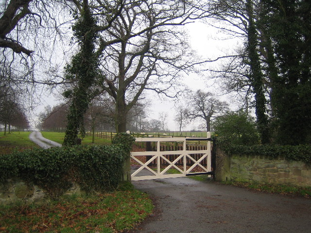 The entrance to Langley Priory