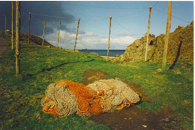 Fishing nets at Cove Bay