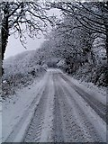 SW9164 : Snow in St. Columb by Barry