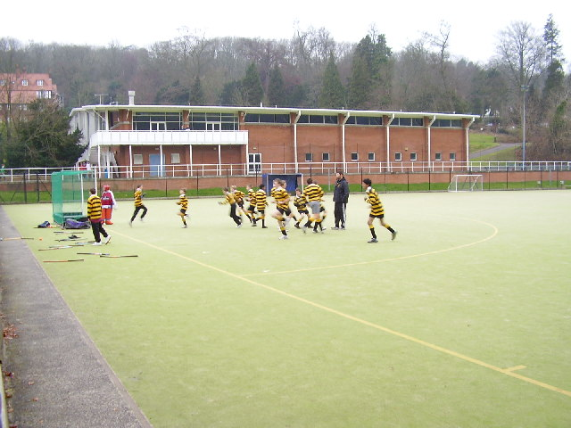 Hockey training at Caterham School