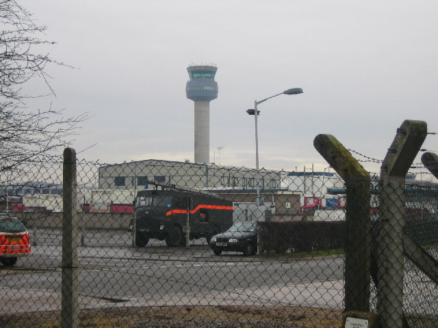 East Midlands Airport and the Control Tower