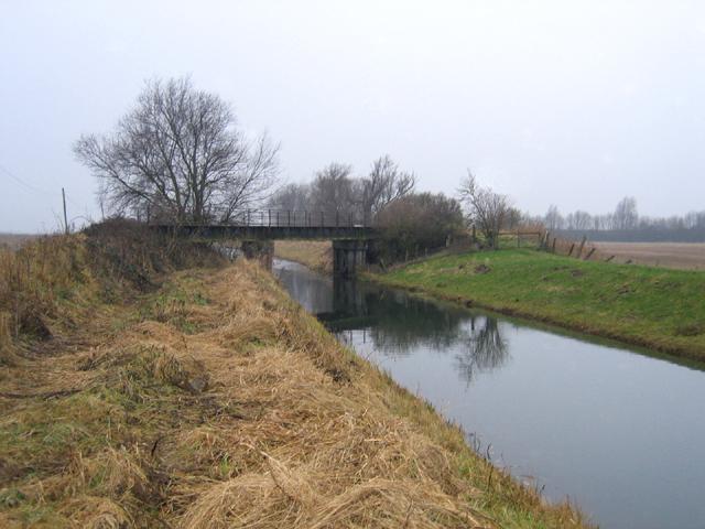 Railway bridge over the Counter Drain, Deeping St Nicholas, Lincs