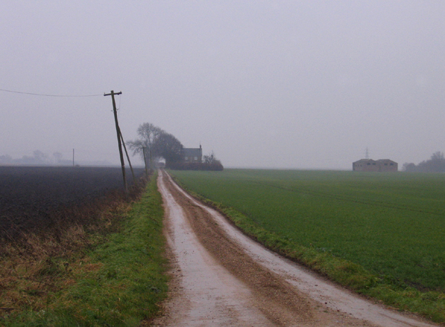 Farm track, Tongue End, Lincs