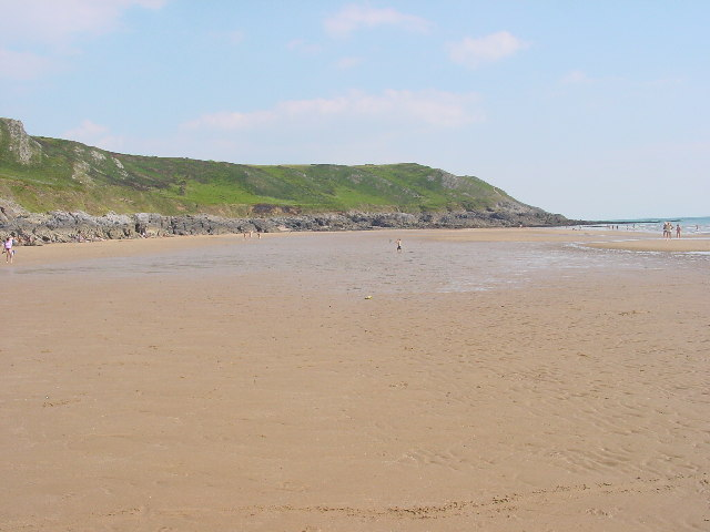 Caswell Bay looking towards Whiteshell Point