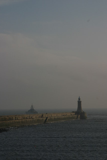 Lighthouse at the end of the North Pier, Tynemouth