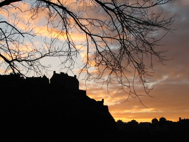 Edinburgh Castle in Silhouette