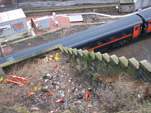 Train leaving Waverley Station