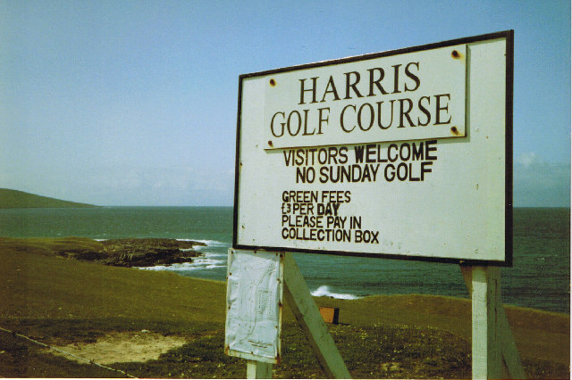 Harris Golf Course Sign