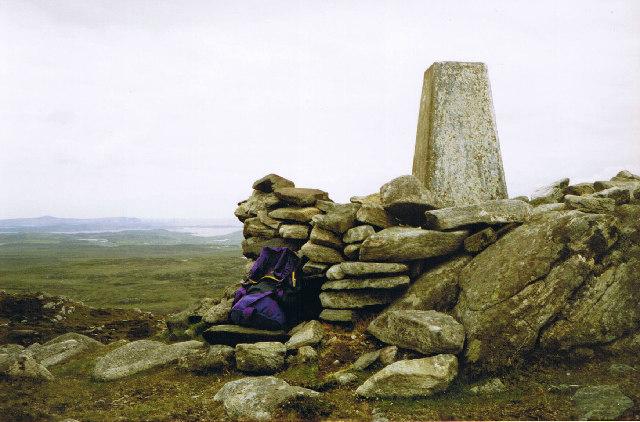 Trig Point on Beinn Bragar