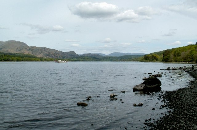Coniston Water shoreline