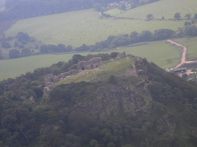Beeston Castle from the air.