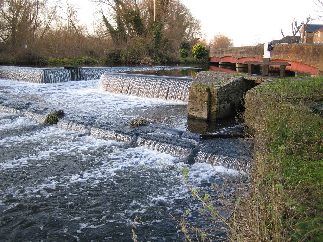 River Colne: Overspill weir from the Grand Union Canal