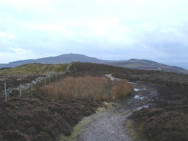 Offa's Dyke Footpath at Moel Dywyll