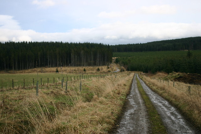 End of the public road near Bailiesward
