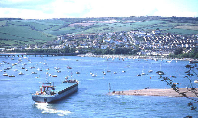 Coaster entering Teignmouth, from The Ness
