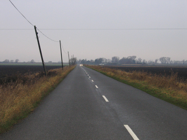 Black Drove on a grey day, Baston and Deeping Fens, Lincs