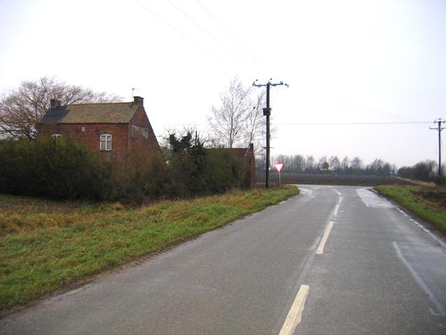 Derelict pub, Baston Fen, Lincs