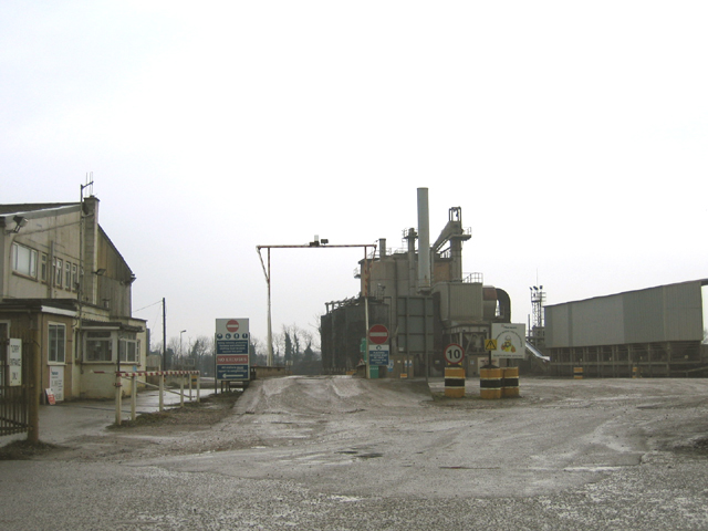 Gravel works and weighbridge, Baston Fen, Lincs