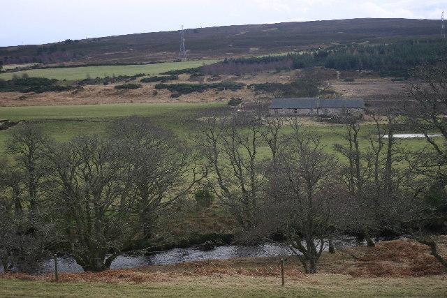 Across River Lossie towards Blackhills