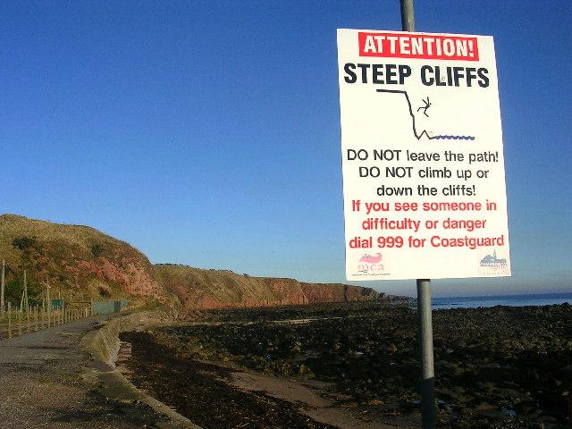 Cliffs at Cowie