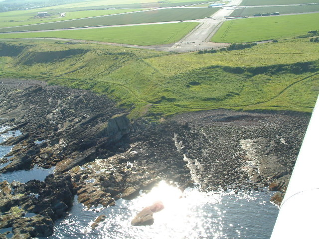 Kilminning Castle from the air