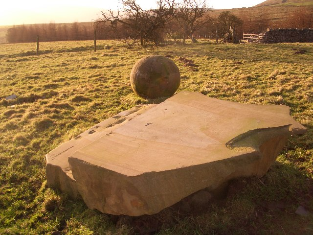 Unusual Stonework in field near Hey