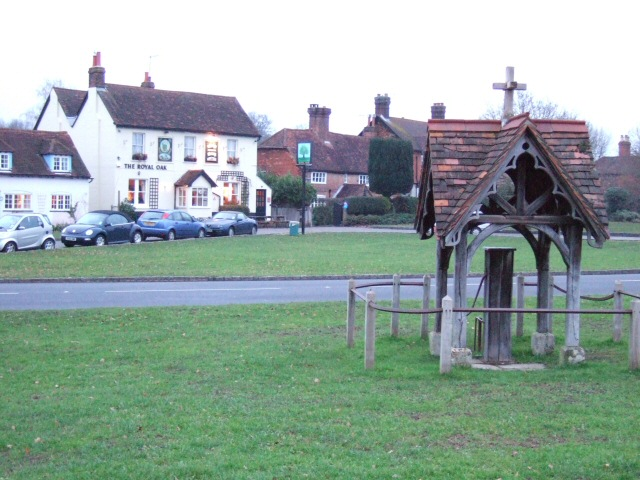 Brockham Green and the Royal Oak