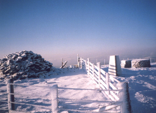 The summit of Mount Blair