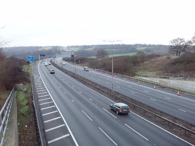 M25 Motorway near Gerrards Cross