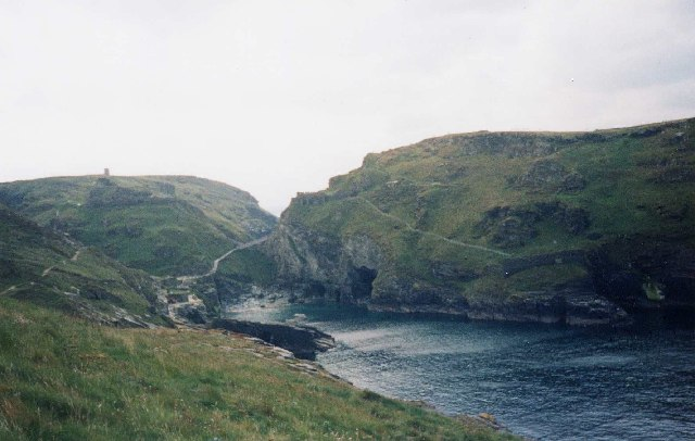 Merlins Cave Tintagel Cornwall