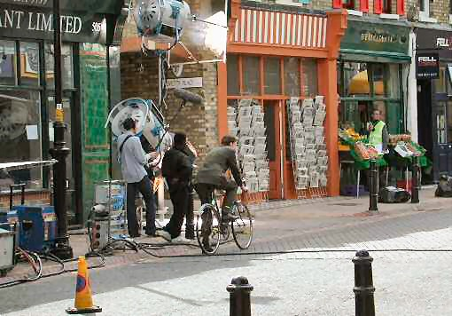 Old York Road, Wandsworth Town - filming