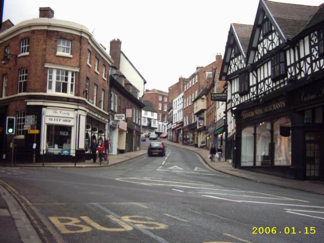 Wyle Cop Shrewsbury On A Sunday Afternoon