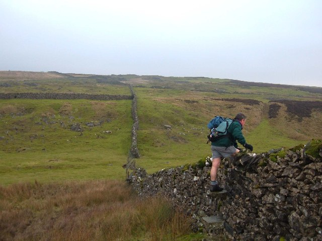 Wall stile on Grassington Moor