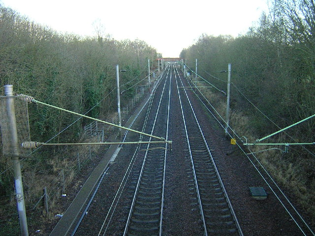 Glasgow-London Main Railway Line Near Bellshill