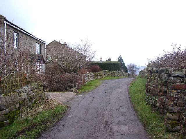 The lane to the SE from Timble village