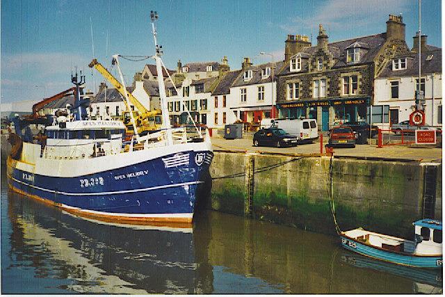Fishing boat in Macduff Harbour