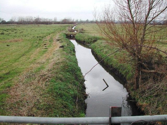 The main drainage rhyne flows under the God's Wonderful Railway