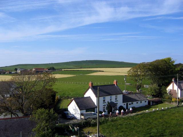 Glaneriw, looking north