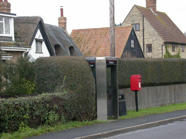 Phone Booth, Post Box and Cottages